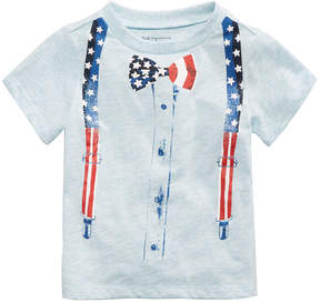 First Impressions Bow Tie-Print T-Shirt, Baby Boys, Created for Macy's