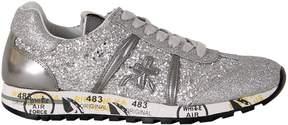 Premiata Silver Glitter Lucy Low Sneakers
