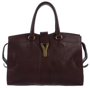 Saint Laurent Cabas Chyc Tote - BURGUNDY - STYLE