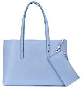 Aspinal of London Regent Tote In Misty Blue Kaviar