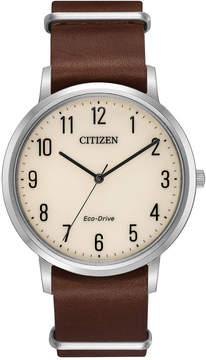 Citizen Mens Brown Bracelet Watch-Bj6500-21a