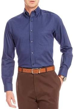 Daniel Cremieux Signature Solid Heather Long-Sleeve Woven Shirt