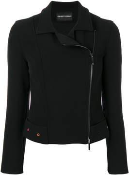 Emporio Armani cropped biker jacket
