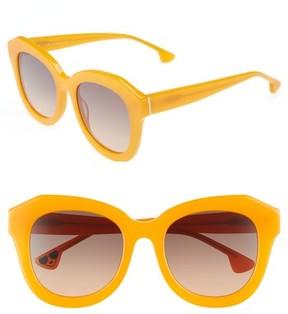 Alice + Olivia Women's Frank 52Mm Geometric Sunglasses - Orange Crush