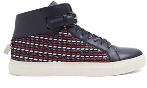 Buscemi 100mm Weave high-top leather trainers