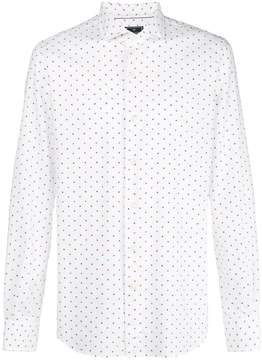 Orian dot print button down shirt