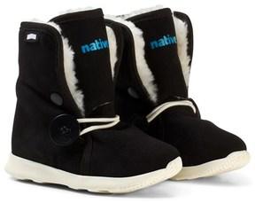 Native Black Luna Water Repellent Fleece Lined Boots