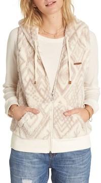 Billabong Women's Side By Side Fleece Hooded Vest