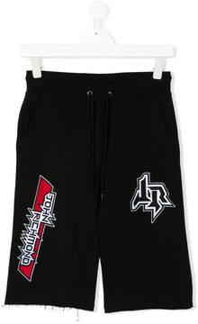 John Richmond Kids TEEN patchwork shorts