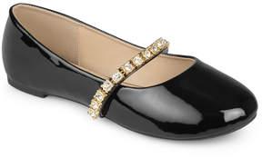 Journee Collection Black Mona Ballet Flat