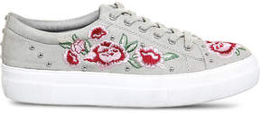 Office Flip embroidered studded trainers