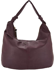 Tignanello As Is Smooth Leather Soft Knot Hobo Handbag