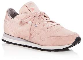 Reebok Women's Classic Suede Lace Up Sneakers