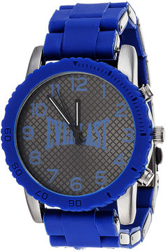 Everlast Mens Blue Silicone Strap Sport Watch