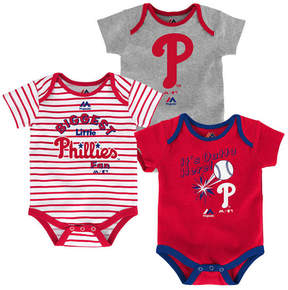 Majestic Philadelphia Phillies Homerun 3-Piece Set, Baby Boys (0-9 months)