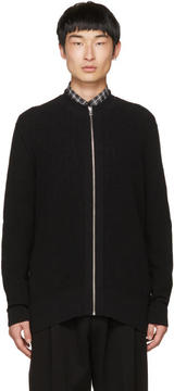 McQ Black Zipper Basic Cardigan