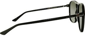 Gucci GG0016S-006-58 Black Aviator Sunglasses
