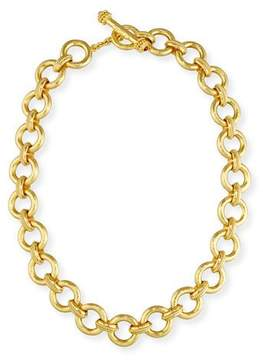 Elizabeth Locke 19K Gold Ravenna Link Necklace, 17