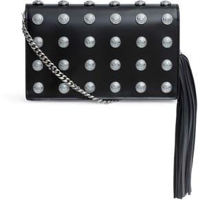 Balmain Pochette black studded clutch