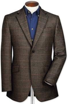 Charles Tyrwhitt Classic Fit Brown Semi-Plain Lambswool Wool Jacket Size 40