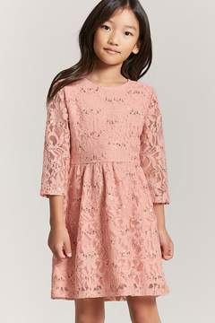 Forever 21 Girls Sequin Lace Embroidered Dress