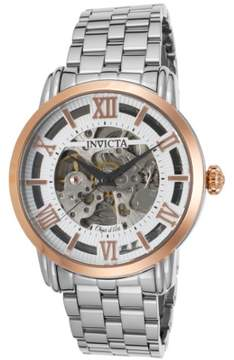 Invicta Objet D Art Automatic Silver Skeleton Dial Men's Watch 22628