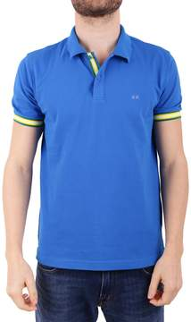 Sun 68 Cotton Blend Pique Polo Shirt
