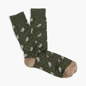 J.Crew Snowy owl print socks