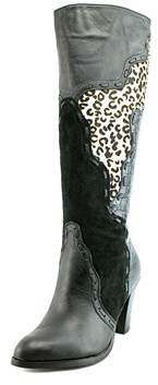 Very Volatile Stampede Pointed Toe Leather Knee High Boot.