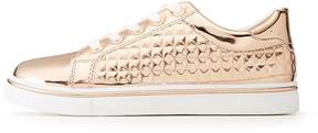 Charlotte Russe Metallic Pyramid Lace-Up Sneakers
