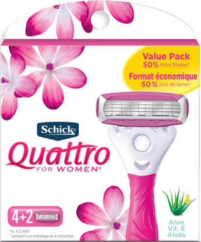 Schick Quattro for Women Ultra Smooth Value Pack Razor Blade Refills