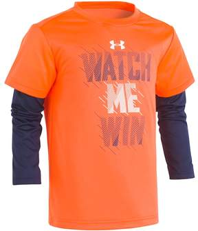 Under Armour Boys 4-7 Watch Me Win Mock-Layer Graphic Tee