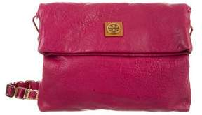 Tory Burch Louisa Leather Messenger Bag - PINK - STYLE