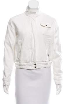 Blumarine Stand Collar Zip-Up Jacket