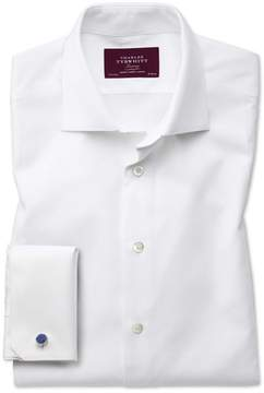 Charles Tyrwhitt Slim Fit Luxury Marcella White Tuxedo Egyptian Cotton Dress Shirt French Cuff Size 15/33