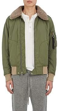 Rag & Bone Men's Shearling-Collar Cotton-Blend Flight Jacket