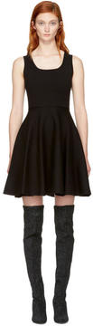 DSQUARED2 Black Scoop Neck Jersey Dress