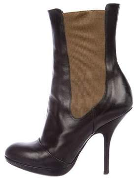 Dries Van Noten Leather Mid-Calf Boots