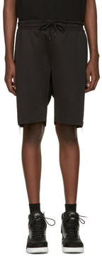 Pyer Moss Black Evans Zip Shorts