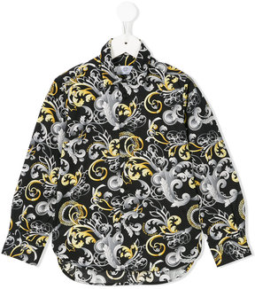 Young Versace printed shirt