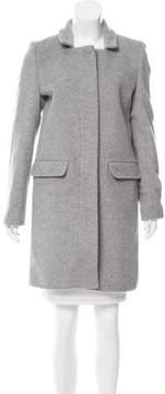 Closed Wool Knee-Length Coat