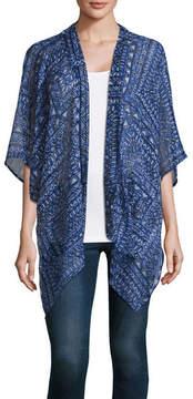 Arizona 3/4 Sleeve Tie Dye Kimono-Juniors