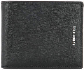 Cerruti pebbled logo wallet