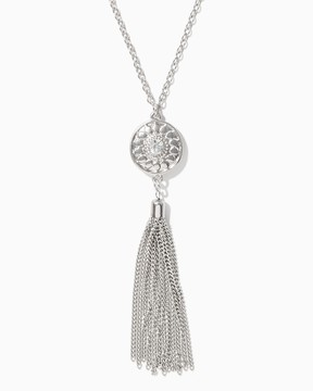 Charming charlie Perl Tassel Pendant Necklace