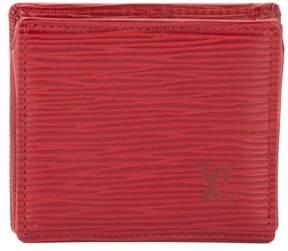 Louis Vuitton Castillian Red Epi Porte Monnaie Boite Coin Case (Pre Owned) - RED - STYLE