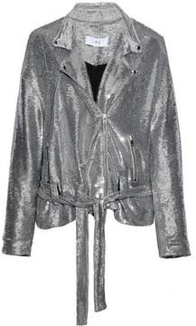 IRO Belted Sequined Jersey Jacket