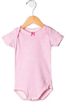 Petit Bateau Girls' Floral Short Sleeve All-In-One