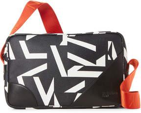 Jil Sander Navy Printed Shoulder Bag