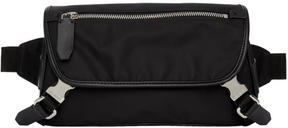 Neil Barrett Black Nylon Belted Pouch