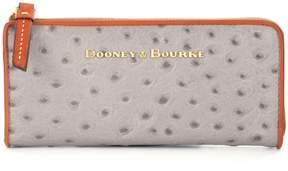 Dooney & Bourke Ostrich Collection Zip Clutch - GREY - STYLE